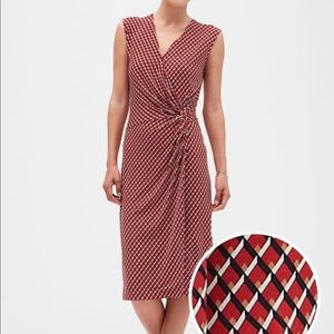 NWT Banana Republic Print Twist Faux Wrap Dress